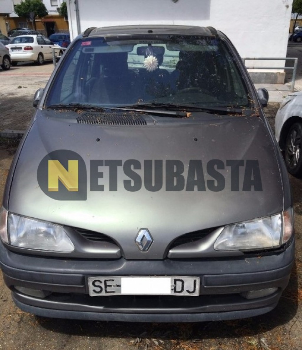 subasta de renault megane scenic 1 9dti 1999. Black Bedroom Furniture Sets. Home Design Ideas